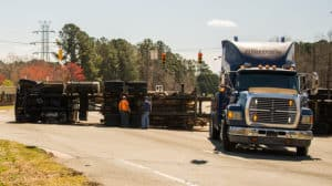 Logging Truck Accident On Highway